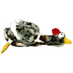 (Rosewood) Chubleez Squeaky Quackers Duck Dog Toy (Grey)
