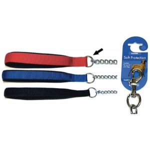 (Classic) Soft Protection Chain Dog Lead Heavy (Red)