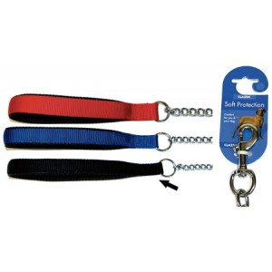 (Classic) Soft Protection Chain Dog Lead Heavy (Black)