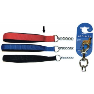 (Classic) Soft Protection Chain Dog Lead Medium (Red)