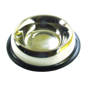 (Rosewood) Stainless Steel Non-Slip Bowl 6inch