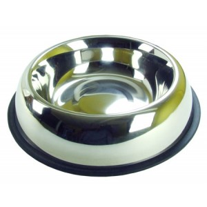 (Rosewood) Stainless Steel Non-Slip Bowl 10inch