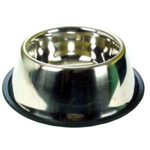 (Rosewood) Non-Tip/Slip Stainless Steel Spaniel Bowl 1Ltr
