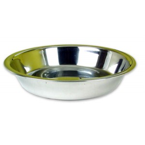 (Rosewood) Stainless Steel Shallow Puppy Pan 6inch