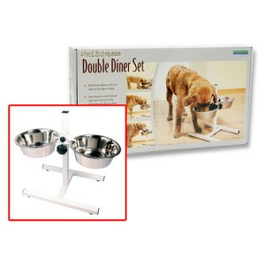 (Rosewood) Adjustable Stainless Steel Double Diner 4 Pint (2.25lt)