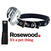 (Reflective) Soft Protection Paws Dog Collar 26 inch x 1 inch (Black)