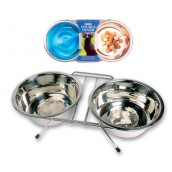 (Rosewood) Stainless Steel Wire Double Diner (Large)