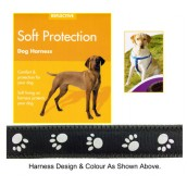 (Reflective) Soft Protection Paws Dog Harness (Medium) (Black)