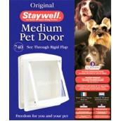 (Staywell) Original Pet Door (Medium) (White) (740 EFS)