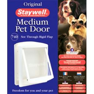 (Staywell) Original Pet Door (Medium) (White) (740 EFS)