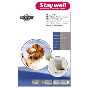 (Staywell) Aluminium Heavy Duty Pet Door (Medium)(White) (620ML)