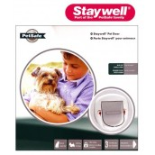 (Staywell) Big Cat Small Dog 4 Way Locking Pet Door (White) (280EFS)
