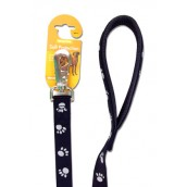 (Reflective) Soft Protection Paws Dog Lead 40 inch x 3/4 inch (Black)