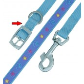 (HI-CRAFT) Superstar Collar 16 inch x 0.75 inch (Blue)