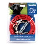 (Rosewood) Dog Tie Out Cable (15ft)