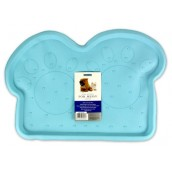 (Rosewood) Rubber Place Mat For Dogs (Light Blue/Paws)