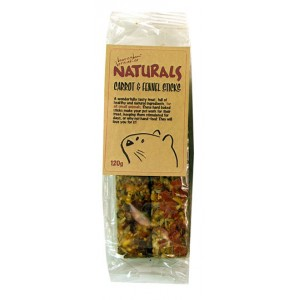 (Boredom Breakers) NATURALS Carrot & Fennell Sticks (120g)
