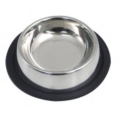 (Rosewood) Stainless Steel Non-Slip Cat Bowl 4.5inch