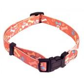 (Wag'n'Walk) Walk-Time Paw & Bone Adjustable Dog Collar (Large)
