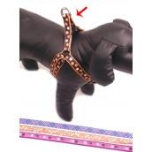 (Wag'n'Walk) Walk-Time Orange Dot Dog Harness (Large)