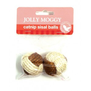 (Jolly Moggy) Catnip Sisal Balls (Twin Pack)