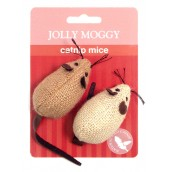 (Jolly Moggy) Catnip Mice (Twin Pack)