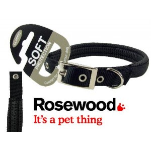 (Classic) Soft Protection Dog Collar 14 x 5/8inch (Black)