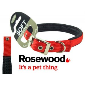 (Classic) Soft Protection Dog Collar 16 x 5/8inch (Red)