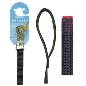 (Classic) Soft Protection Dog Lead 40 x 1inch (Black)