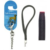 (Classic) Soft Protection Chain Dog Lead Medium (Black)