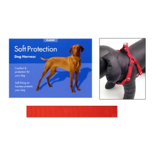 (Classic) Soft Protection Dog Harness (Large) (Red)