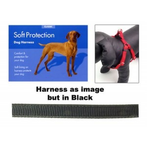 (Classic) Soft Protection Dog Harness (X Large) (Black)