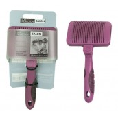 (Soft Protection) Salon Self-Cleaning Slicker Brush (Small)