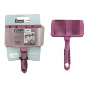 (Soft Protection) Salon Self-Cleaning Slicker Brush (Medium)