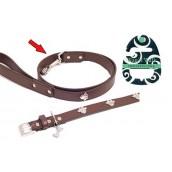 (Wag'n'Walk) Designer Brown Paw Dog Lead Small