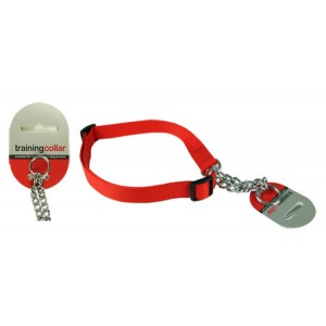 (Rosewood) Adjustable Check Choke Training Collar Medium (Red)