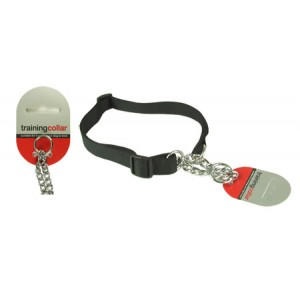 (Rosewood) Adjustable Check Choke Training Collar Medium (Black)