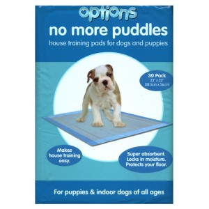 (Options) Puppy Pads 23 inch X 22 inch (Pack of 30)