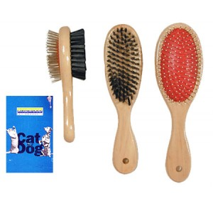(Rosewood) Double Sided Brush (Medium)