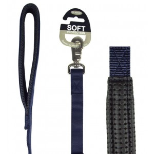 (Classic) Soft Protection Dog Lead 40 x 3/4inch (Navy)