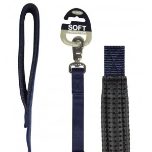 (Classic) Soft Protection Dog Lead 40 x 1inch (Navy)