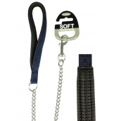 (Classic) Soft Protection Chain Dog Lead Heavy (Navy)