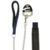 (Classic) Soft Protection Chain Dog Lead X Heavy (Navy)