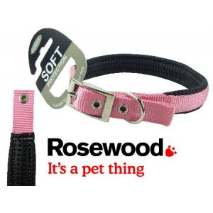 (Classic) Soft Protection Dog Collar 14 x 5/8inch (Pink)