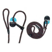 (Walk-Time) Rope Twist Slip Lead 64inch (Brown/Teal)