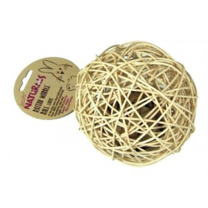 (Boredom Breakers) NATURALS Rattan Wobble Ball (Large)