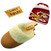 Lost Soles Vinyl Linyl Slipper Dog Toy