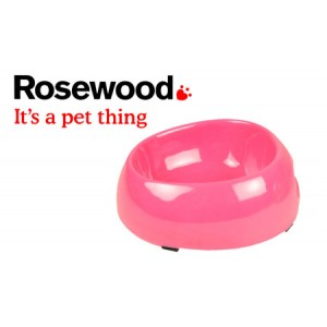 (Feed-Time) Deluxe Melamine Dog Bowl Large 9inch Pink
