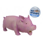 (the grunters) Oinking Latex Pig Dog Toy (Large)