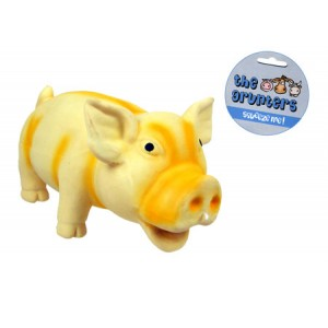 (the grunters) Oinking Latex Pig Dog Toy (Small)